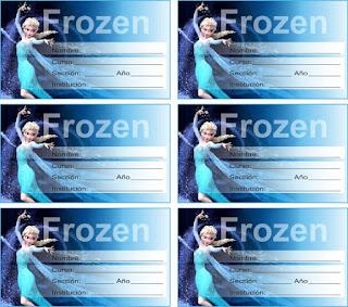 etiqueta gratuita de frozen