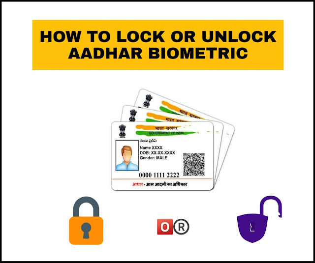 How to lock or unlock Aadhar Biometric online