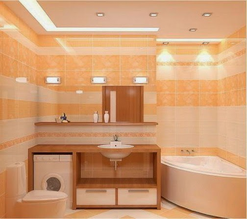 25 cool bathroom lighting ideas and ceiling lights for Bathroom 9 foot ceiling
