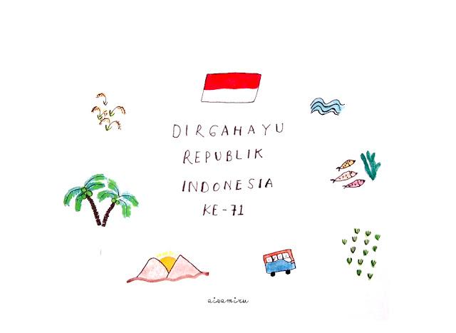 HUT RI, dirgahayu indonesia, hari kemerdekaan indonesia, selamat ulang tahun indonesia, indonesia illustration