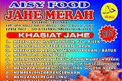 Minuman Kesehatan Jahe Merah Aisy Food. Herbal