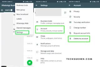 How to delete whatsapp account [permanently]