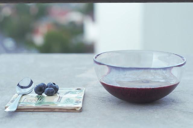 Blueberry sorbetto