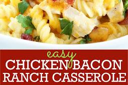 Easy Gluten Free Chicken Bacon Ranch Casserole Recipe