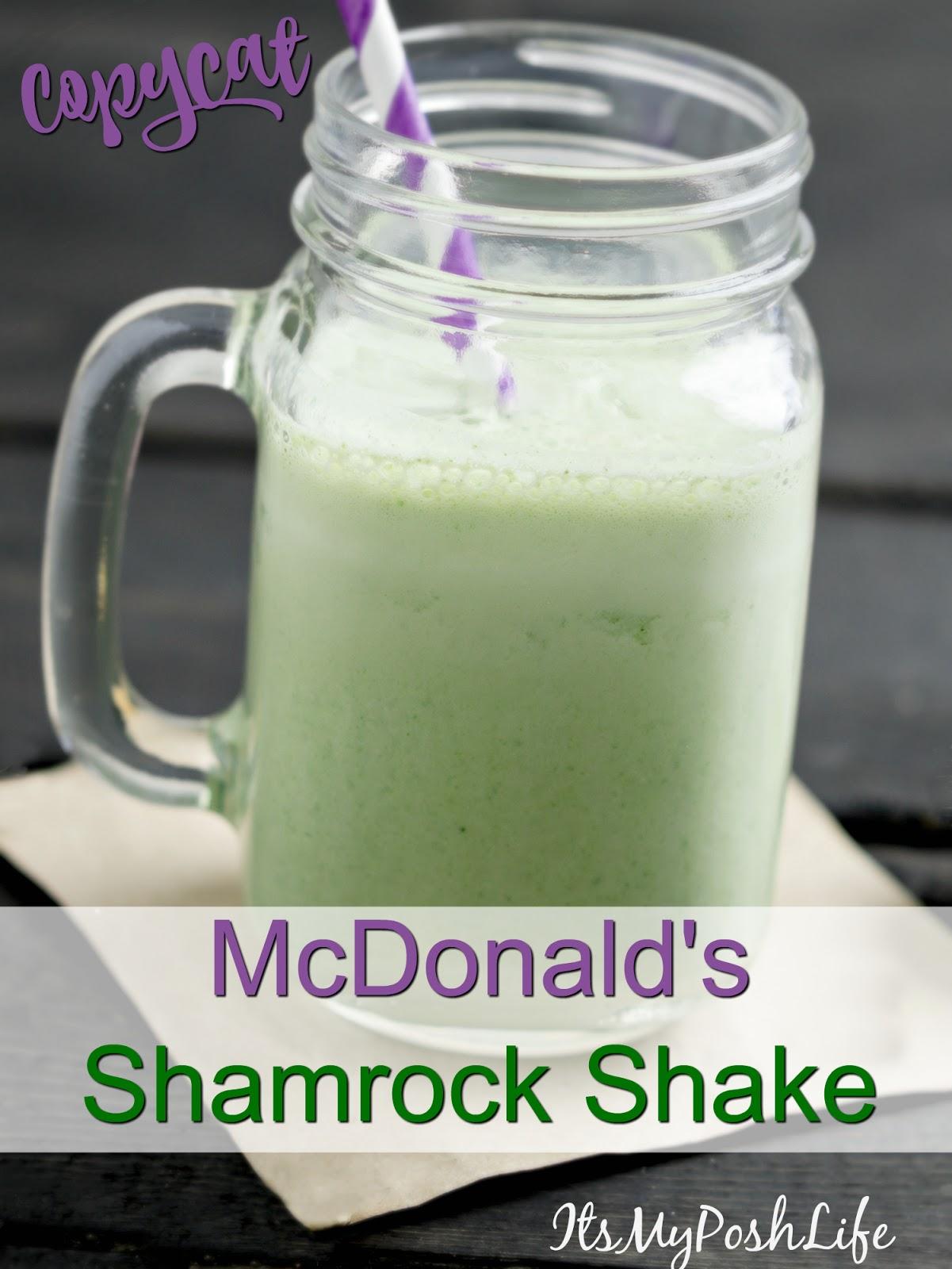 Copycat McDonalds Shamrock Shake- A Healthier Version