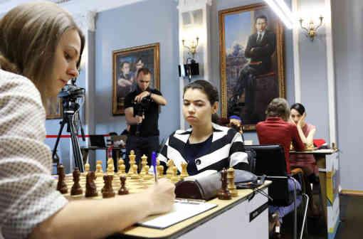 La toute jeune joueuse d'échecs russe Alexandra Goryachkina (20 ans, 2522 Elo) - Photo © Eteri Kublashvili