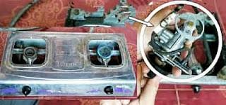 Cara Betulin / Memperbaiki Kompor Gas LPG Yang Tidak Keluar Bunga Api ( Pematiknya Tidak Berfungsi )