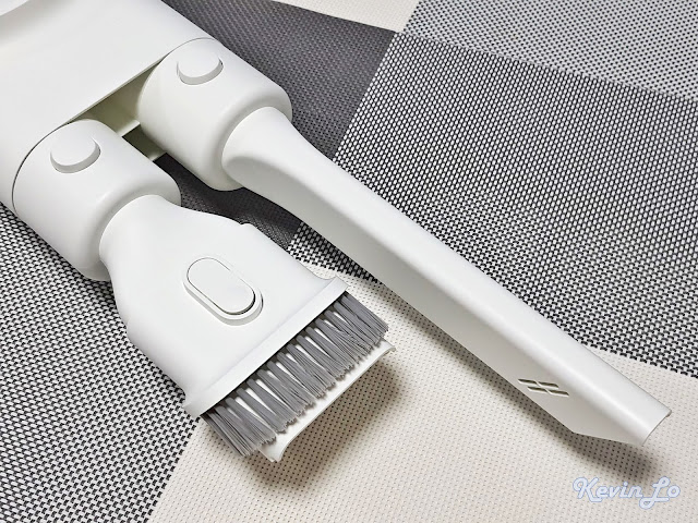 【MI 小米】米家無線吸塵器 G9 (白色) 開箱_充電收納二合一支架收納處