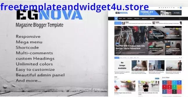 Egnova Blogger Template Free Download