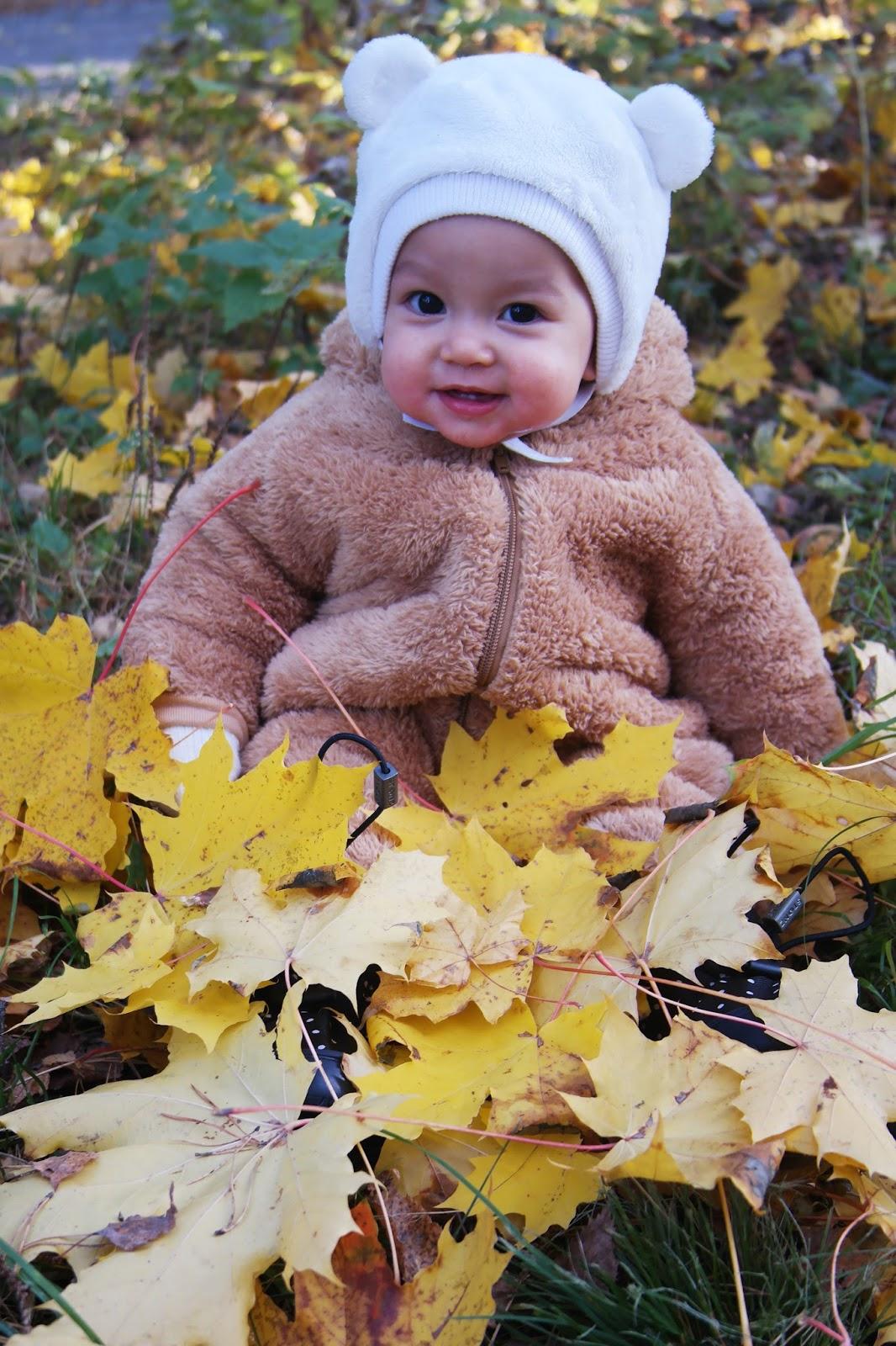 vauva lehtikasassa