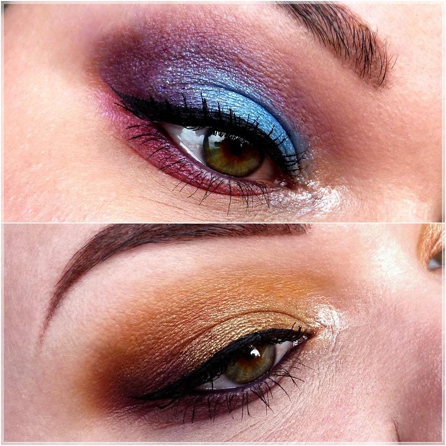 Augen makeups mit der essence Disney Jasmine Palette