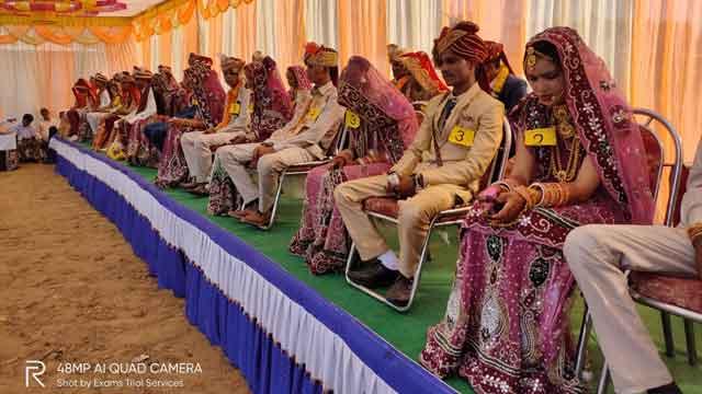 सामूहिक विवाह सम्मेलन में तैबीस जोड़ों का विवाह