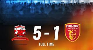 Madura United vs Perseru Badak Lampung 5-1 Highlights