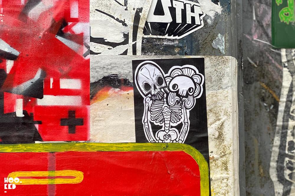 England, London, Shoreditch Street Art Stickers