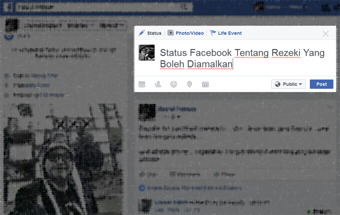 3 Status Facebook Yang Viral Tentang Tips Rezeki
