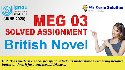 ignou assignment, wuthering heights, ignou solved assignments