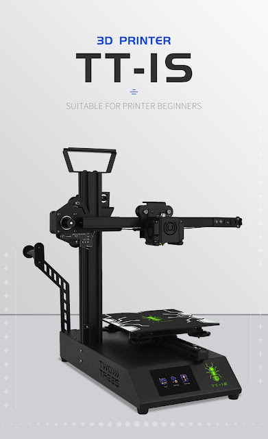 TWO TREES® TT-1S 3D Printer Light-weighted Beginner DIY Kit 180x180x180mm Printing Area Cantilever Design with 3.5Inch Touch Screen / Power Resume / Titan Extruder Support Multi-Language