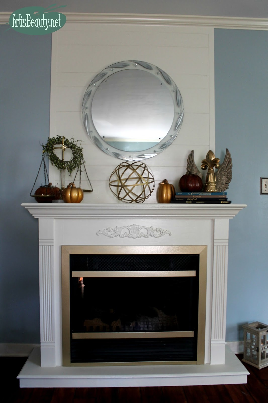 Well-liked ART IS BEAUTY: Cheap and Easy FAUX ShipLap fireplace Makeover DIY  LI12
