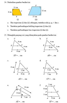 Pembahasan Uji Kompetensi 4 Halaman 265 Matematika Kelas 9 Kongkruen