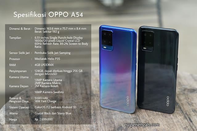 oppo a54 harga oppo a54 kelebihan dan kekurangan oppo a54 2021 oppo a54 spesifikasi