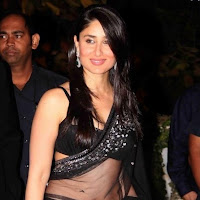 Bollywood actress kareen kapoor hot black saree st…