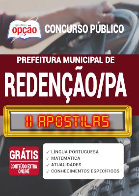 Apostila Concurso Prefeitura de Redenção PA 2020 PDF Edital Online Inscrições