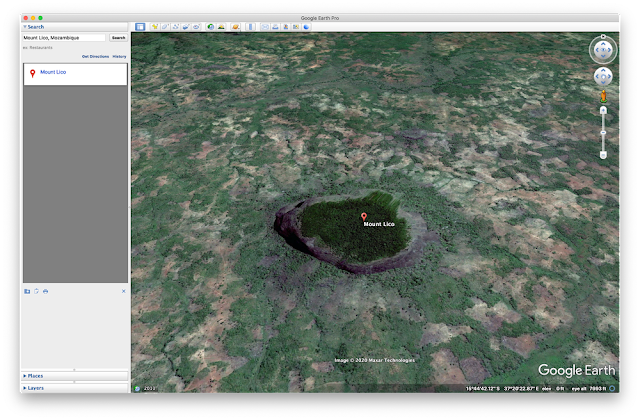 Google Earth Screenshot von Mount Lico