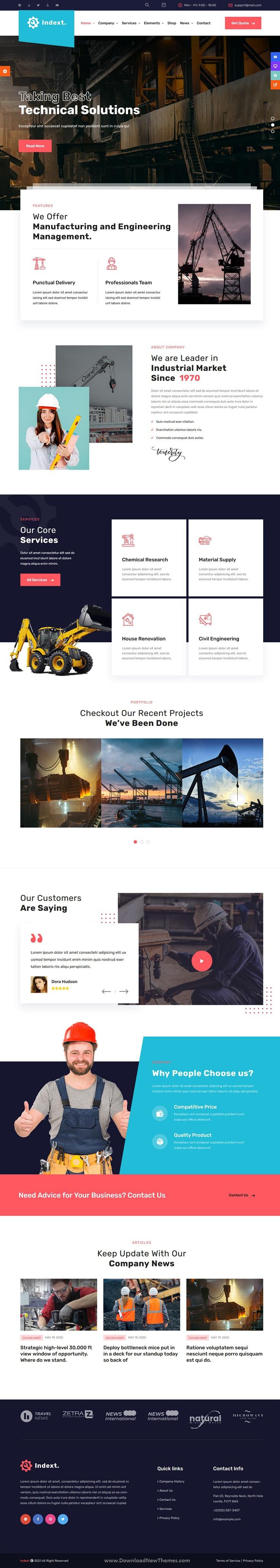 Industrial Business WordPress Theme