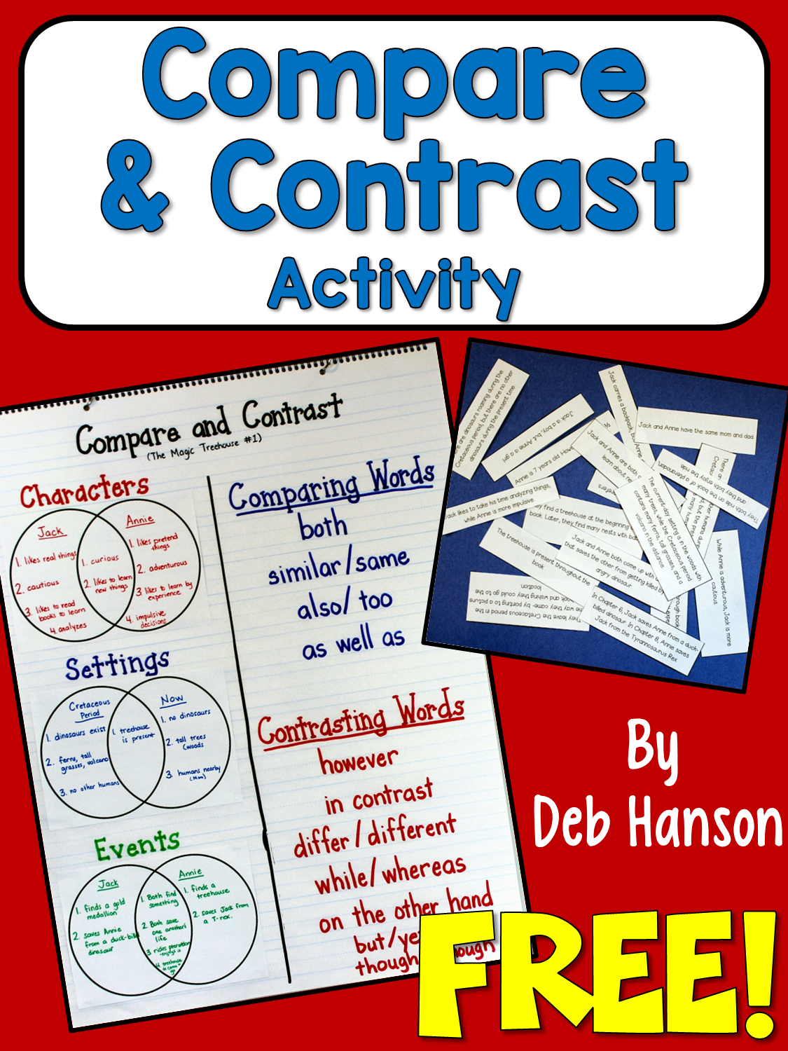 Compare And Contrast Address The Standards With This Free Activity Crafting Connections