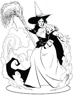 wicked witch coloring pages-#6