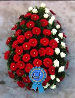 Coroana funerara din Gerbera si Trandafiri