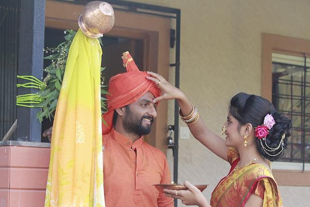 gudi padwa husband and wife image