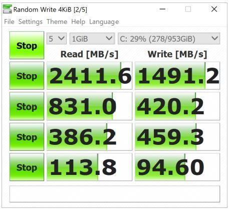 Benchmark CrystalDiskMark Asus ZenBook Pro Duo UX581