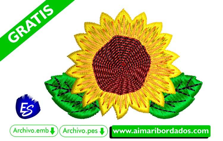 Flor Girasol para bordar a máquina DESCARGA GRATIS