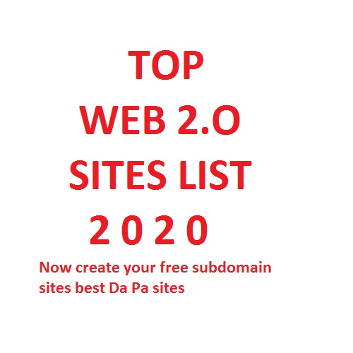 Top web 2.o sites list 2020 | Create your Website Free