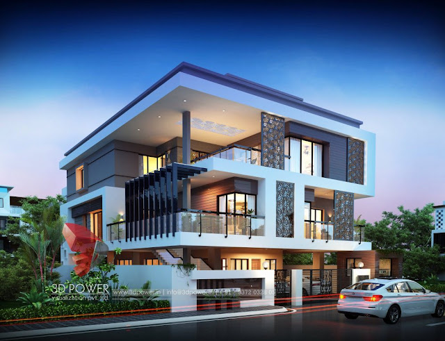 Villa Elevation & 3D Front Elevation for your Dream home with stunning Interior Elevation.