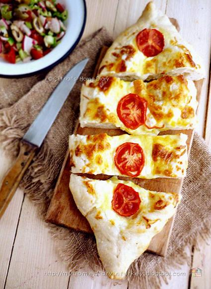 8ef506a866fb3e Citra s Home Diary  Peynirli Pide    Turkish  pita bread with cheese ...