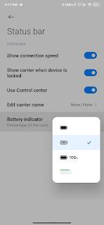Icon baterai baru miui 12