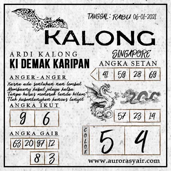 Syair Kalong SGP Rabu 06-Jan-2021