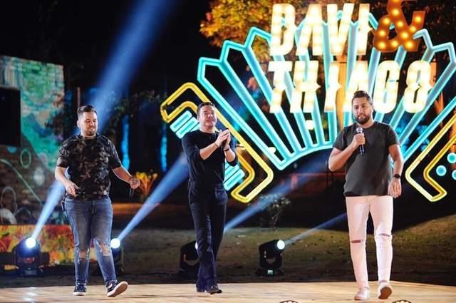 Gravação do DVD da dupla Davi e Thiago com a participação de Matheus e Kauan e Wesley Safadão