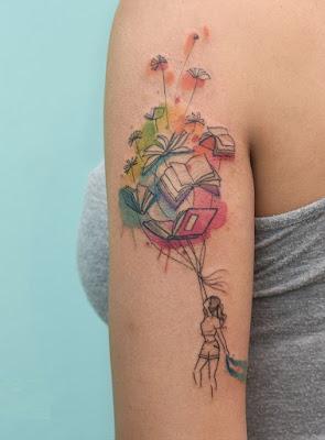 tatuagem-aquarela-livros