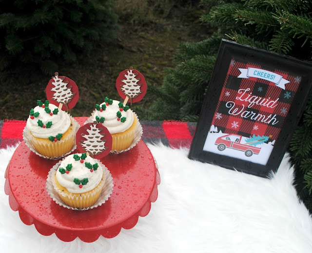 Cupcakes on the tree farm.  Get more inspiration at FizzyParty.com