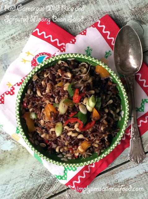 simply.food: Red Camargue Wild Rice and Sprouted Moong bean Salad