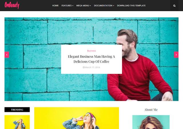 OmBeauty Blogger Premium Template