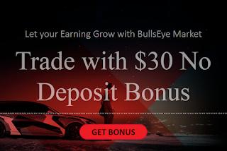 BullsEye Markets $30 Forex No Deposit Bonus