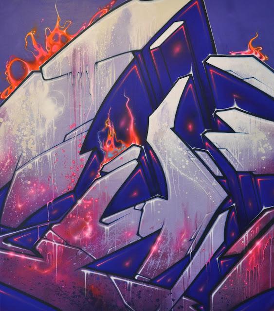 """BLAST OFF"" acrylic painting 160 X 140 cm"
