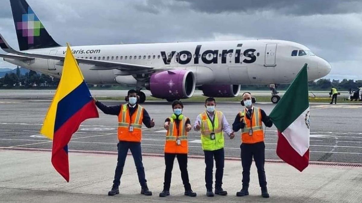 VOLARIS INICIO OPERACIONES COLOMBIA CDMX 01