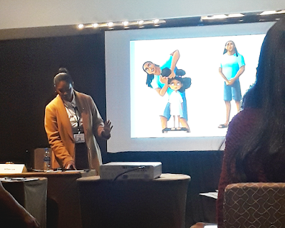 Vashti Harrison gives an illustration workshop at the NYC SCBWI conference 2020