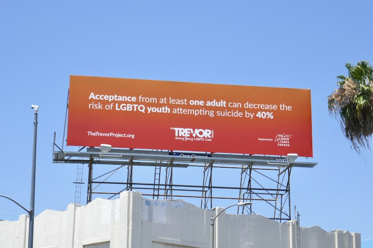 Trevor Project Late Late Show James Corden billboard