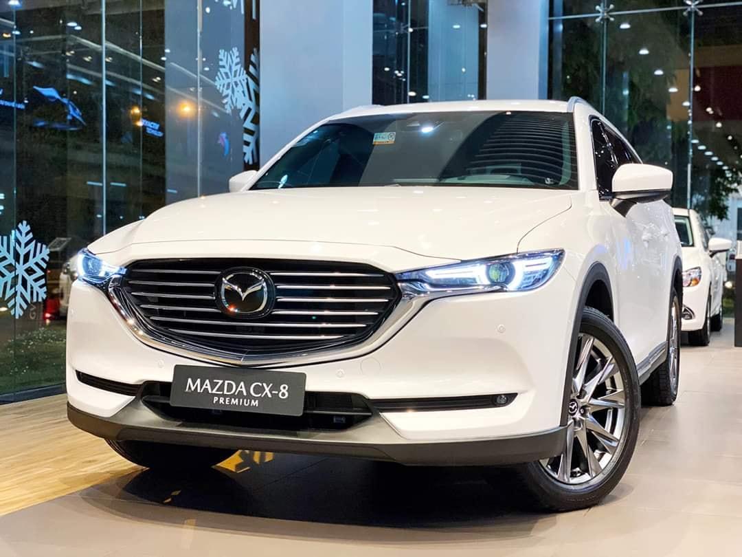 Mazda Cx8 trắng ngọc trai tai hcm